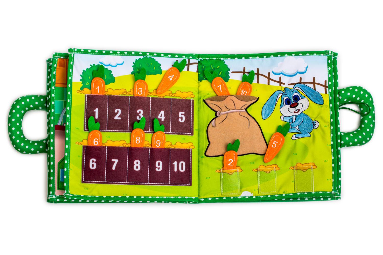 Interaktivní Dětská Textilní Kniha Piqipi: Edice Zajíc