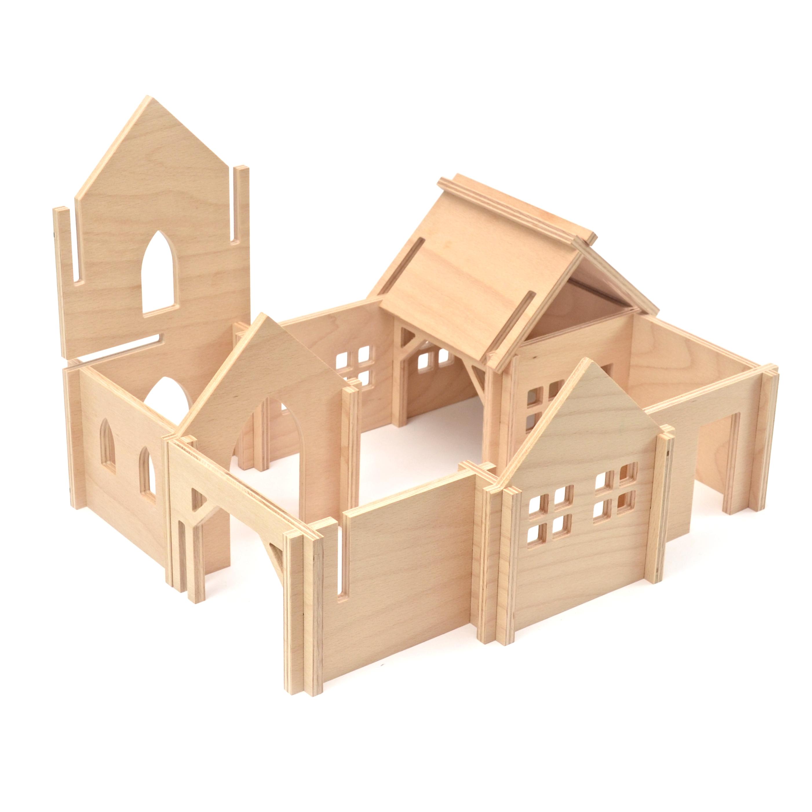 URBIX - Dřevěná stavebnice Víska
