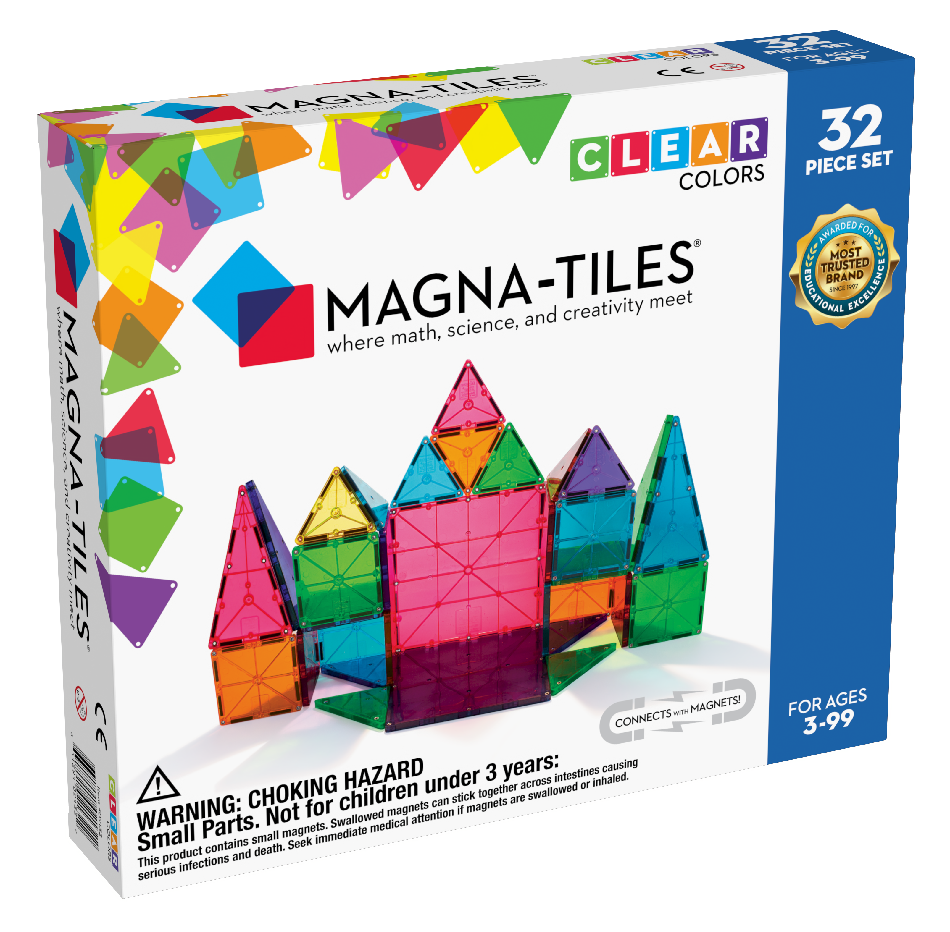 Magna Tiles 32 Clear - průhledná