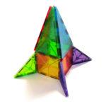 # 02132 Magna-Tiles Clear Colors Rocket