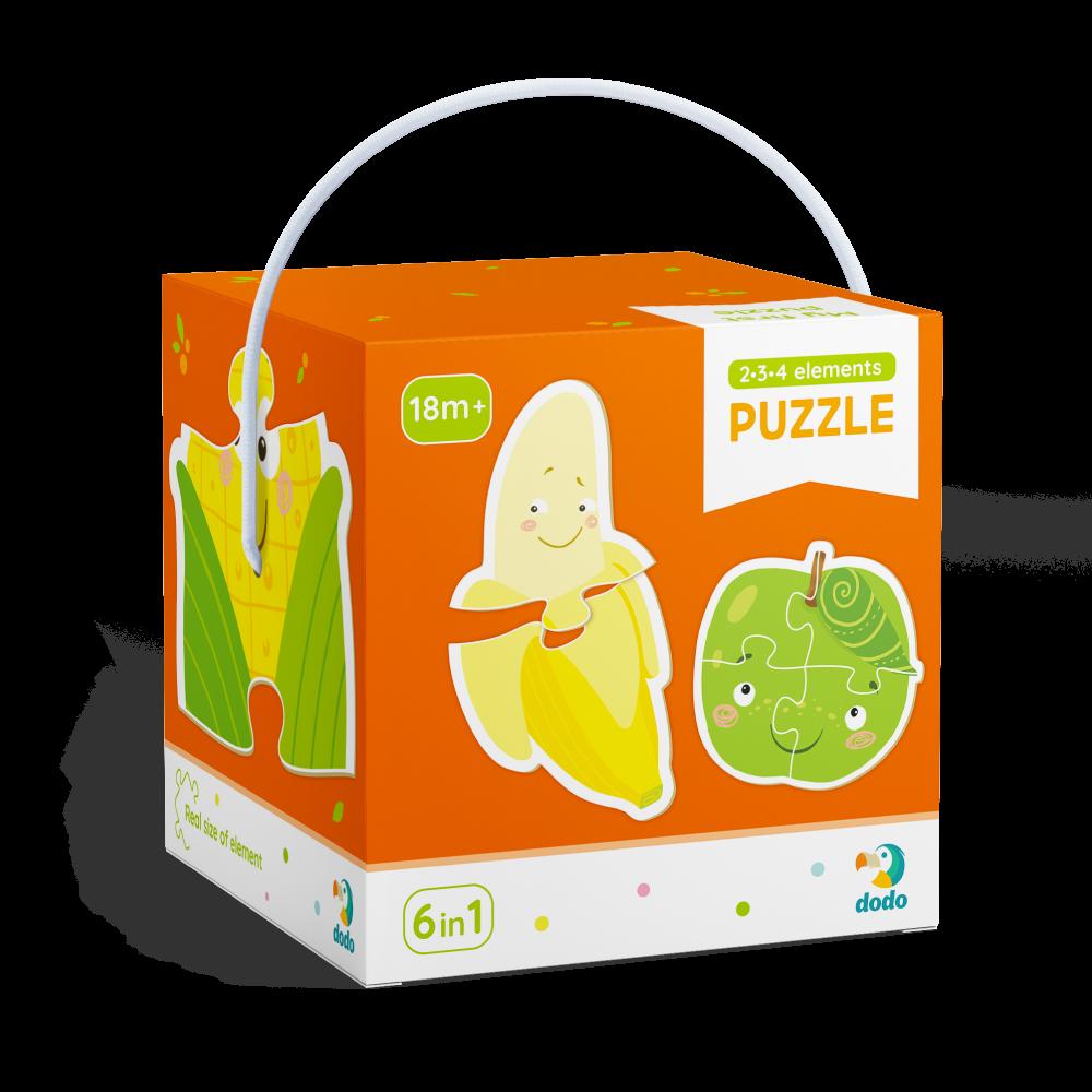 Puzzle 2-3-4 dílků Ovoce a zelenina
