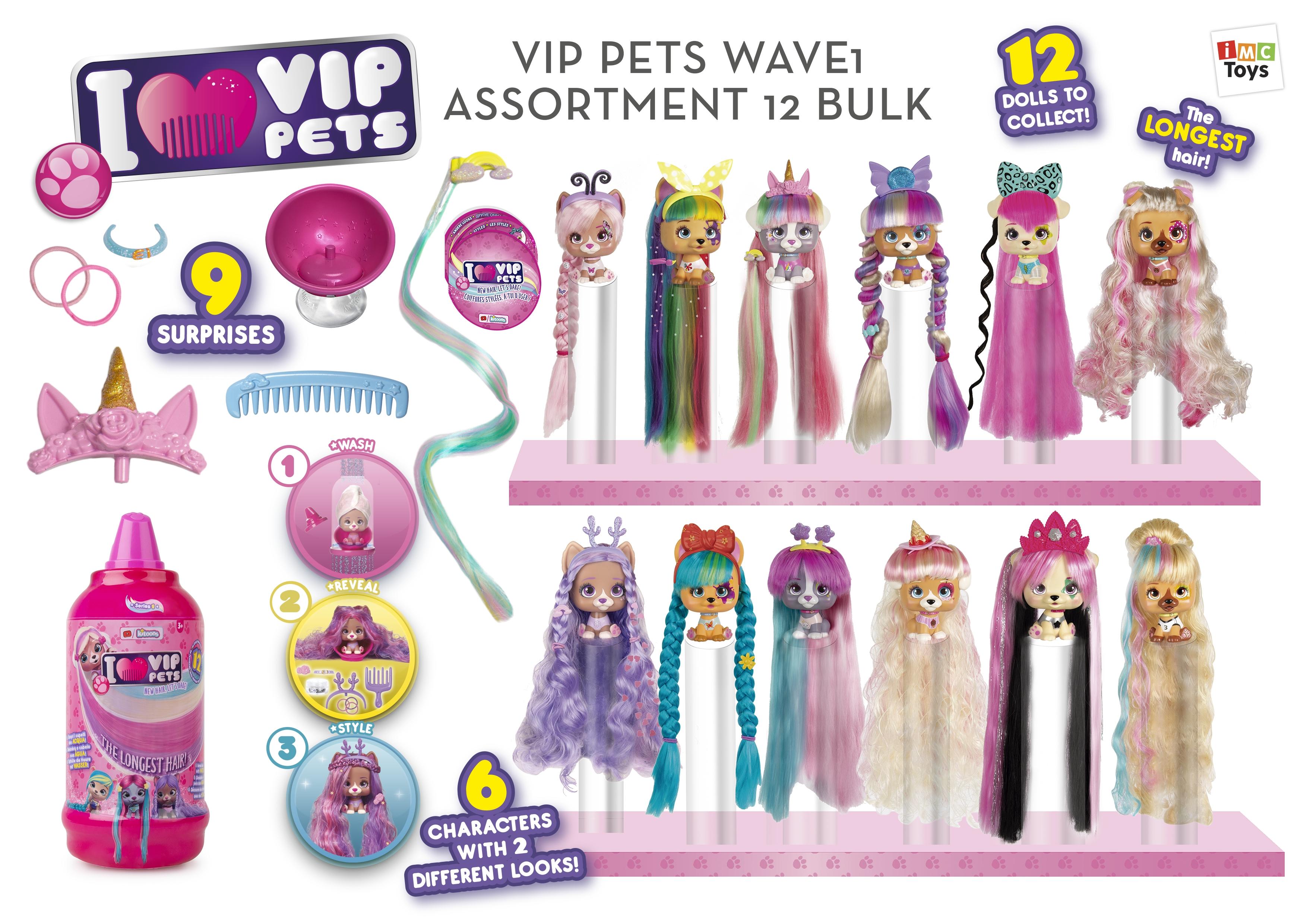 VIP Pets pejsek s doplňky, extra dlouhé vlasy